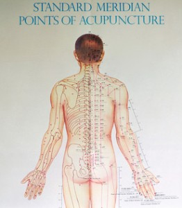 Acupuncture meridians used in Tapping / EFT