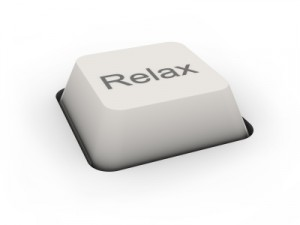 button Relax (image can be used for printing or web)