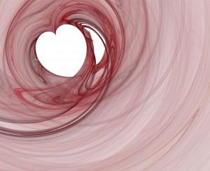 render fractal model - red heart